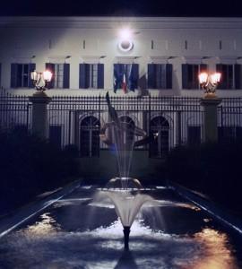 Municipio notturno