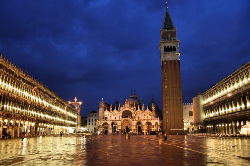 ''S.Marco (notturno di pioggia)'' - Venezia