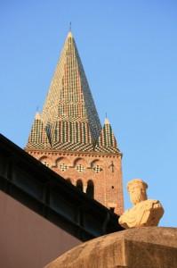 Chiesa di S. Agostino e statua di Giano