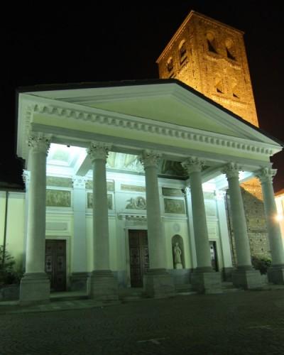Santhià - Chiesa Parrocchiale di Sant'Agata by night