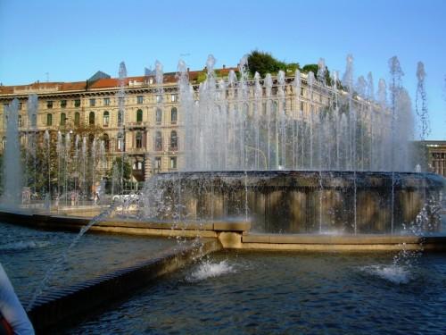 Milano - La fontana del Castello Sforzesco - Milano