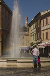 la fontana della piazza