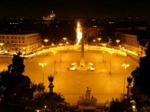 Fontana dell'obelisco - Piazza del Popolo - Roma