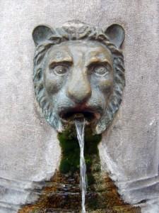Particolare della fontana di Capua