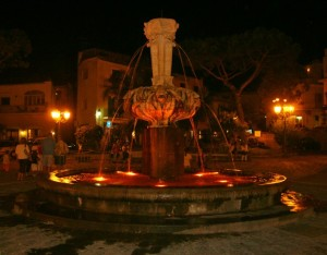 Fontana di Lacco Ameno by night