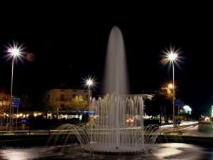 Fontana in rotatoria di Notte Trodica di Morrovalle - Macerata