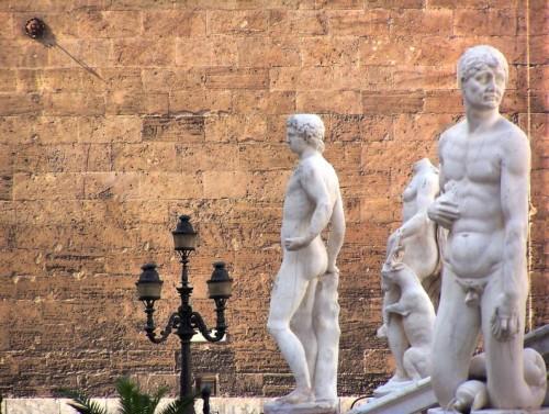Palermo - Piazza pretoria, fontana della vergogna,dettaglio.Palermo