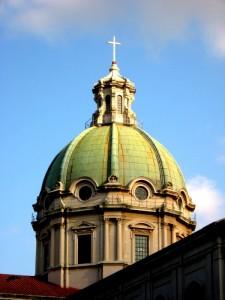 Barcellona Pozzo di Gotto - la Cupola della Basilica di San Sebastiano