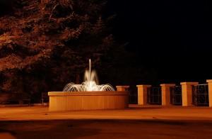 LA fontana di notte