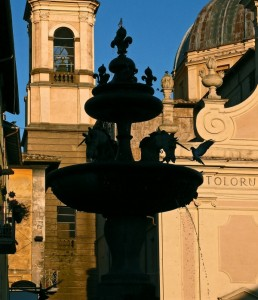 La fontana grande o degli unicorni