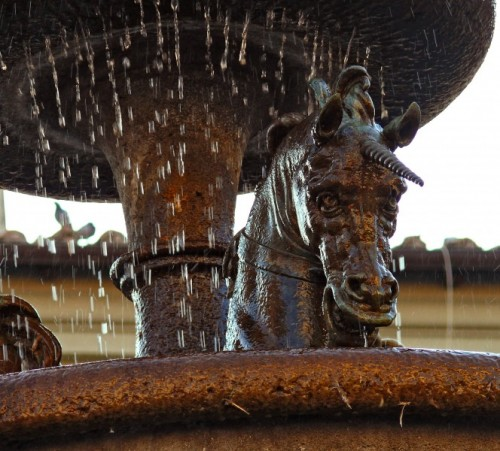 Ronciglione - Particolare della fontana grande o degli unicorni