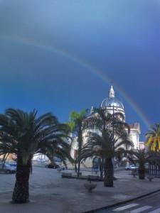 L'arcobaleno sul Duomo