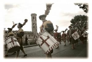 Il corteo a Badia a Settimo