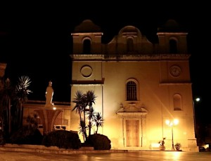 Rodì Milici - la Chiesa dell'Immacolata by night