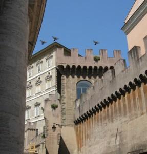 colombe sugli appartamenti papali