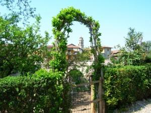Veduta della chiesa parrocchiale di Albignano d'Adda.