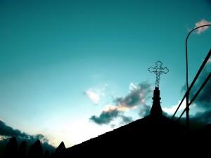Croce al tramonto