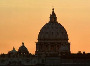 Tramonto  sul Cupolone di San Pietro