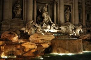 fontana di trevi - notturno