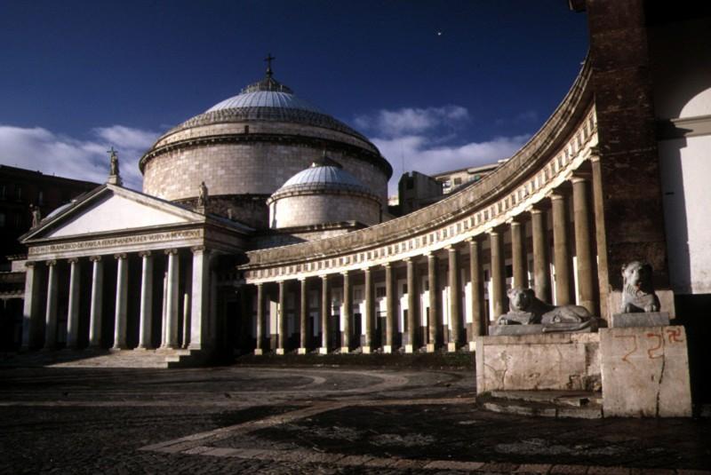 ''piazza plebiscito - chiesa di san francesco di paola'' - Napoli