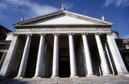 Napoli - chiesa di san francesco di paola - prospettiva frontale