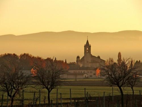 Assisi - Tramonto sul Santuario di  Rivotorto
