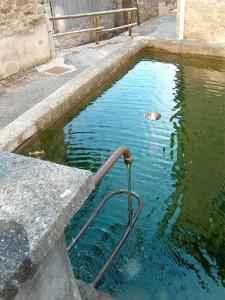 Fontana con riflesso
