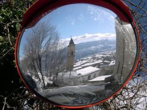 pacentro - chiesa allo specchio