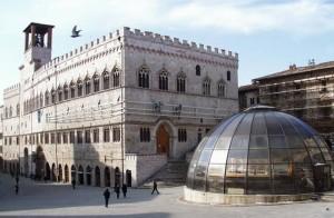 Fontana Maggiore in restauro febbraio 98