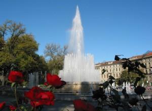 Fontana del castello Sforzesco - Milano