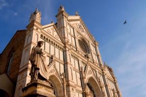 la facciata di Santa Croce a Firenze