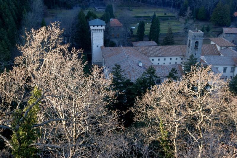 ''luci radenti sulAbbazia di Vallombrosa'' - Reggello