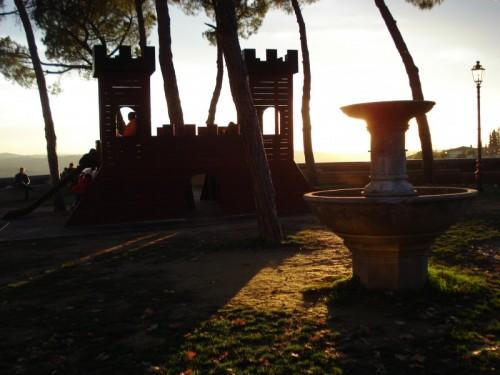 San Casciano in Val di Pesa - giocando al tramonto
