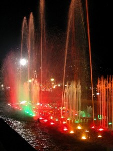 Fontana luminosa e musicale