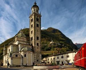Basilica di Madonna e Trenino Rosso del Bernina - Patrimonio mondiale Unesco dal 2008