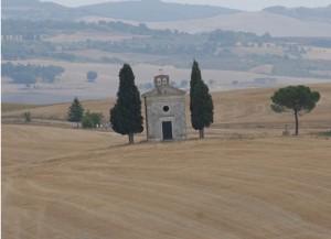 chiesa val d'orcia pienza siena