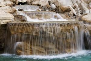 particolare della fontana di trevi