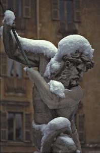 Nevicava a Roma
