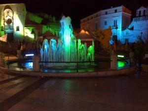 Fontana illuminata….