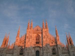 Tramonto sul Duomo di Milano
