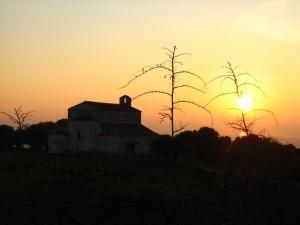 chiesa di monte d'elio - tramonto