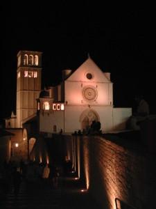 Notturna su Basilica San Francesco