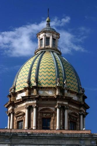 Palermo - particolare della cupola della chiesa di S Giuseppe dei Teatini