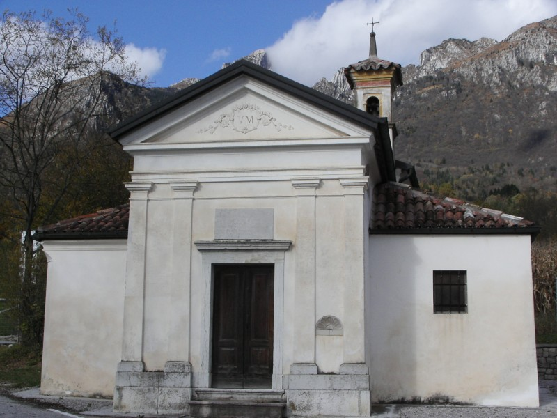 ''Chiesetta dedicata alla Beata Vergine di Loreto - località Alconis'' - San Gregorio nelle Alpi