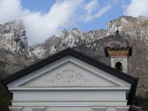 Chiesetta dedicata alla Beata Vergine di Loreto - località Alconis (particolare)