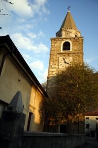 Campanile della chiesa di Bagnoli della Rosandra