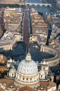San Pietro. Foto aerea