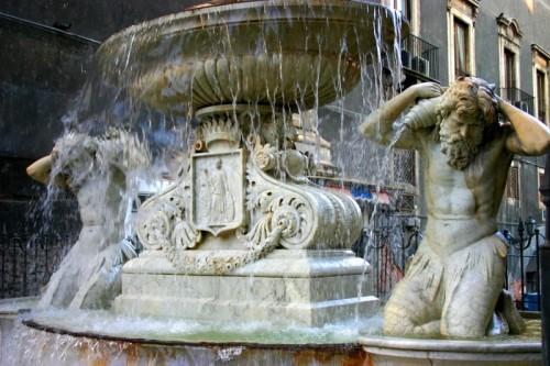 Catania - particolare della Fontana dell'Amenano