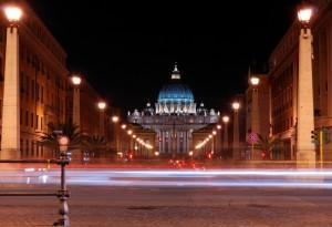 Luci verso San Pietro
