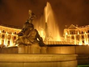 La fontana di piazza della Repubblica